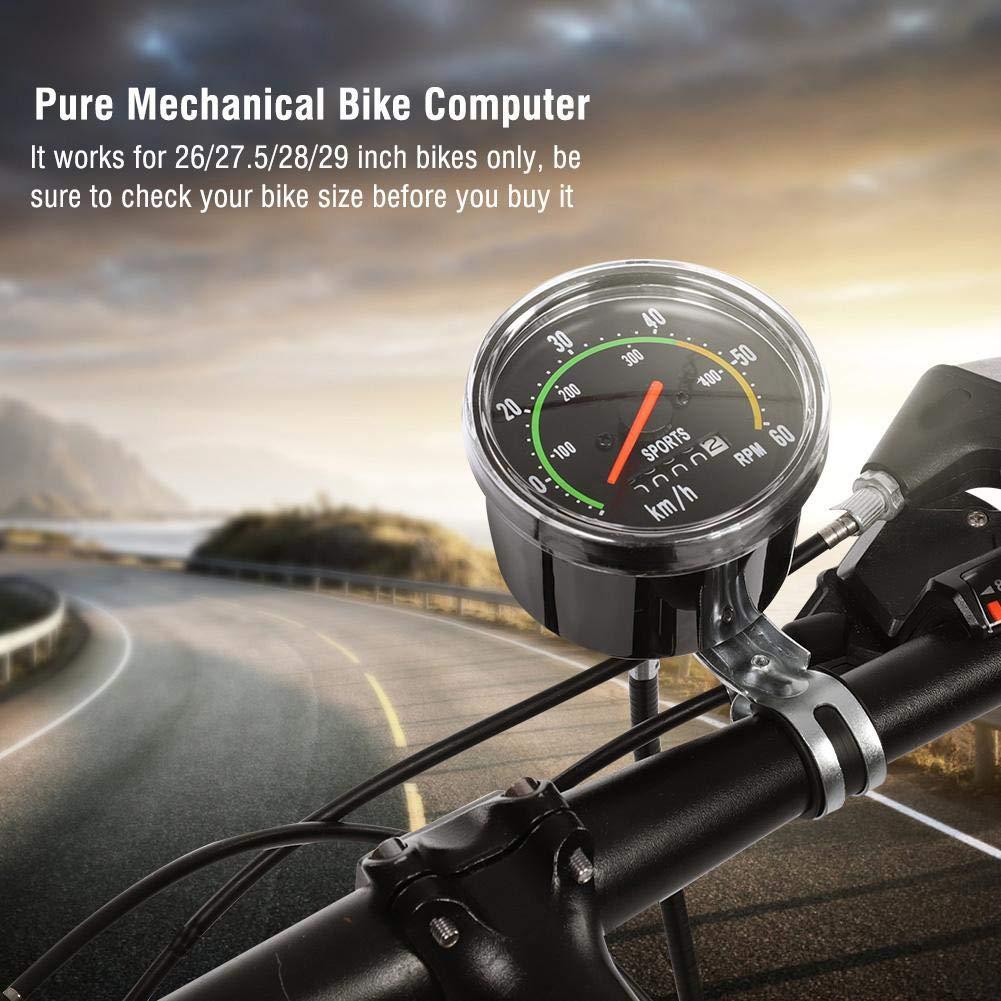 Wireless Waterproof Cycle Bike Computer with LCD Display Mechanical Bicycle Computer Bike Speedometer Odometer Cycling Stopwatch SOULONG Bicycle Speedometer