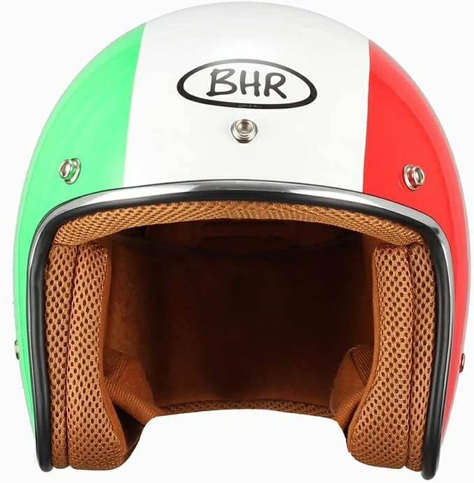 BHR JET MOTORRADHELM MODELL RETRO 711 FARBE ITALIENISCHE FLAGGE GR/Ö/ßE XS