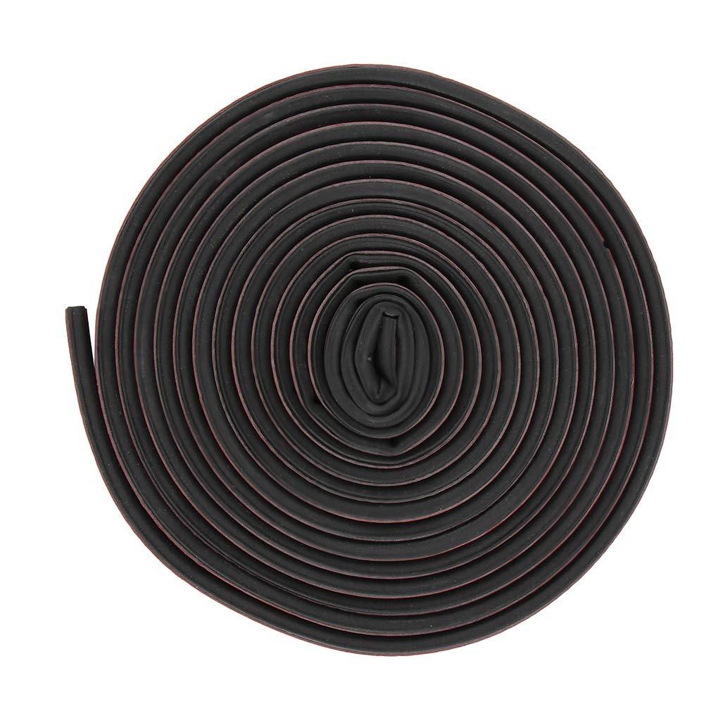 HITECHLIFE 5m C/ôt/é Auto-adh/ésif de Joint de Porte en Caoutchouc de Voiture Joint de Porte pour R/éduire linsonorisation Noir Imperm/éable