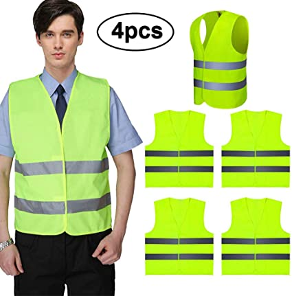 vitihipsy Advanced Safety Vests With Neon Yellow Ultra-reflective Safety Vests With High Visibility