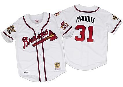 san francisco b57a9 a7b90 Amazon.com : Mitchell & Ness Greg Maddux Atlanta Braves ...