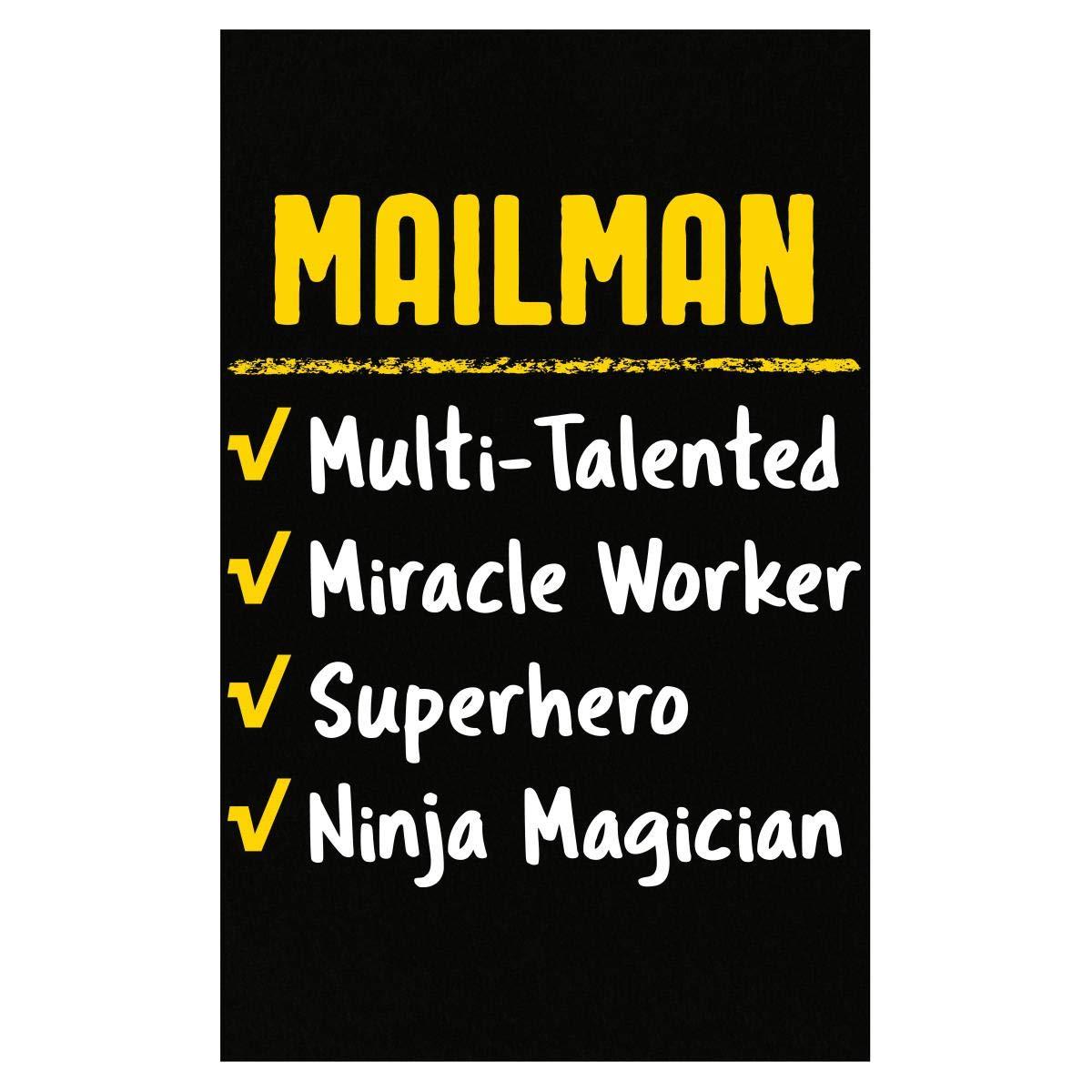 Amazon.com: Mailman Miracle Worker Superhero Ninja Funny ...