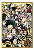 My Hero Academia School Compilation Poster Magnetic Notice Board Oak Framed - 96.5 x 66 cms (Approx 38 x 26 inches)