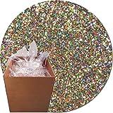 Glitter My World! Craft Glitter: 25lb Box: Multi Rainbow