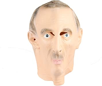 Tgo Vladimir Putin Russian President Latex Rubber Mask Fancy Dress Costume Party Amazon Co Uk Toys Games