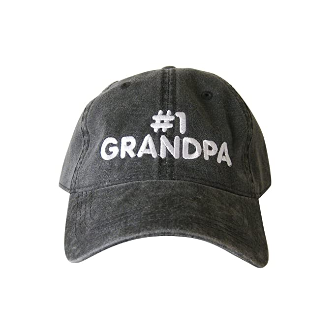 ccb5826d #1 Grandpa Hat Grandpa Cap Embroidered Cap (Black) at Amazon Men's Clothing  store: