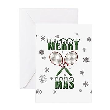Amazon.com: CafePress – Tenis feliz Navidad – Tarjeta de ...