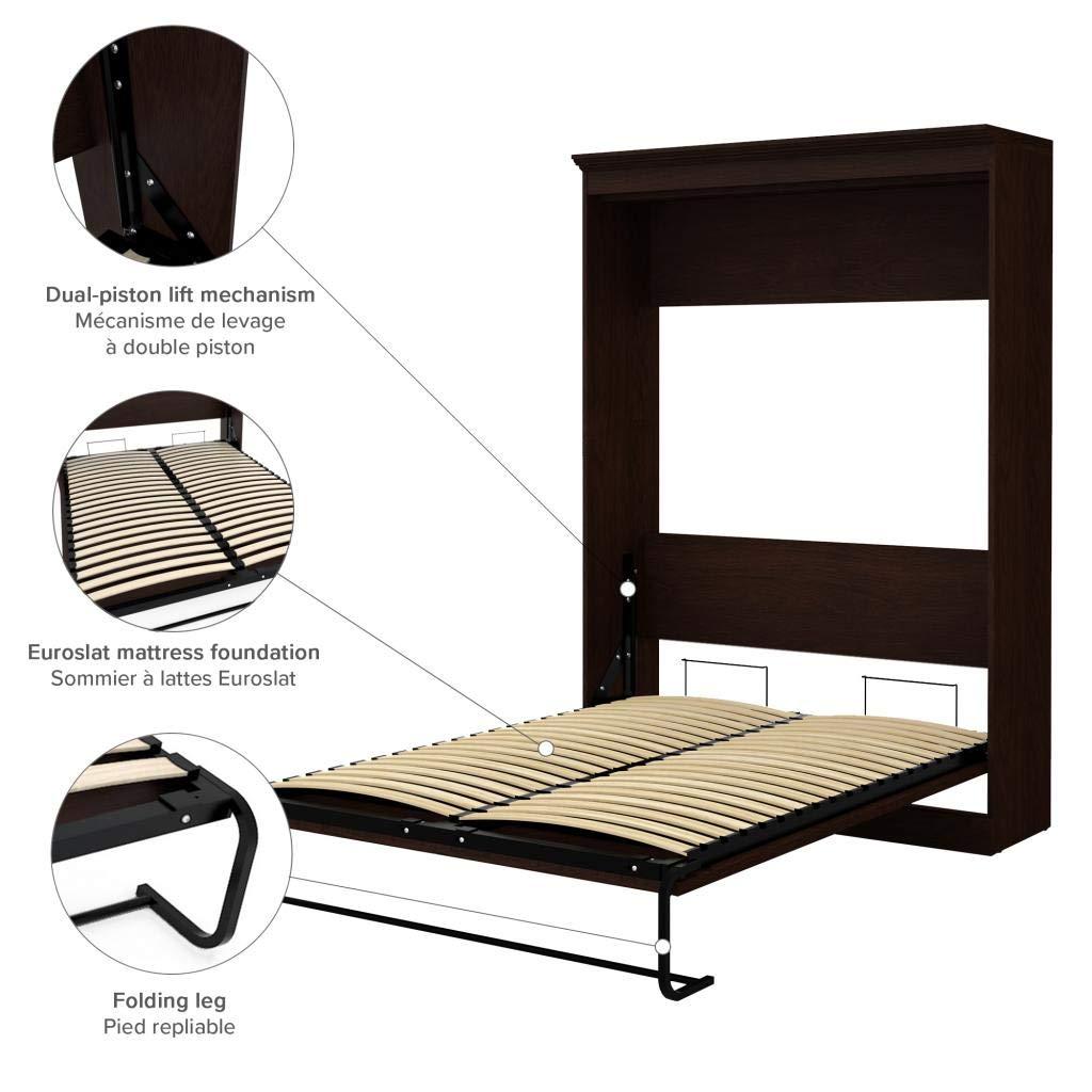 Oak Veneer Full Wall Bed Novello by Bestar