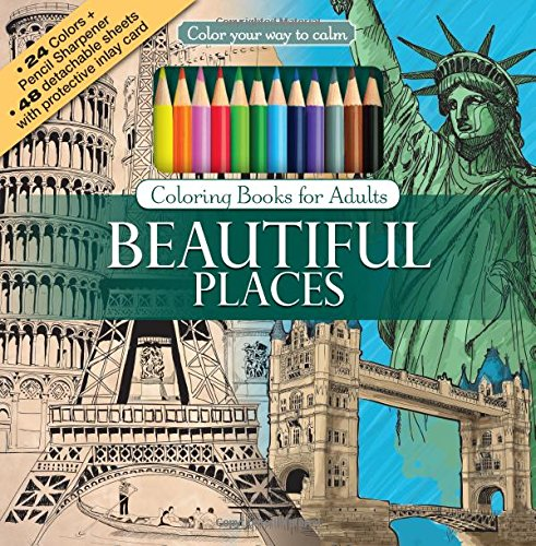 Pdf Crafts Beautiful Places Adult Coloring Book Set With 24 Colored Pencils And Pencil Sharpener Included: Color Your Way To Calm