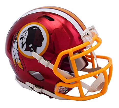 Amazon.com  Washington Redskins - Chrome Alternate Speed Riddell Mini  Football Helmet - New in Riddell Box  Sports Collectibles d51d6801a