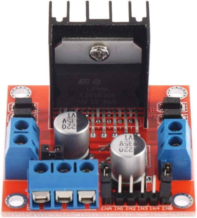 fghfhfgjdfj Noir Module de Carte contr/ôleur contr/ôleur dentra/înement de Moteur Pas /à Pas Double Pont en Double H pour Module de Carte de contr/ôleur de Moteur Arduino L298N