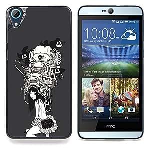"""A-type Arte & diseño plástico duro Fundas Cover Cubre Hard Case Cover para HTC Desire 826 (Haciendo Buena Cara colorida"""")"""