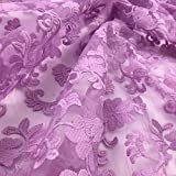 5 Yard Summer New Korean Milk Silk Water Soluble Sewing French Lace Wedding Lady Dress Design Antique For Clothing Accessories Curtain Home Fabric African Width 130 Cm (Light Purple)