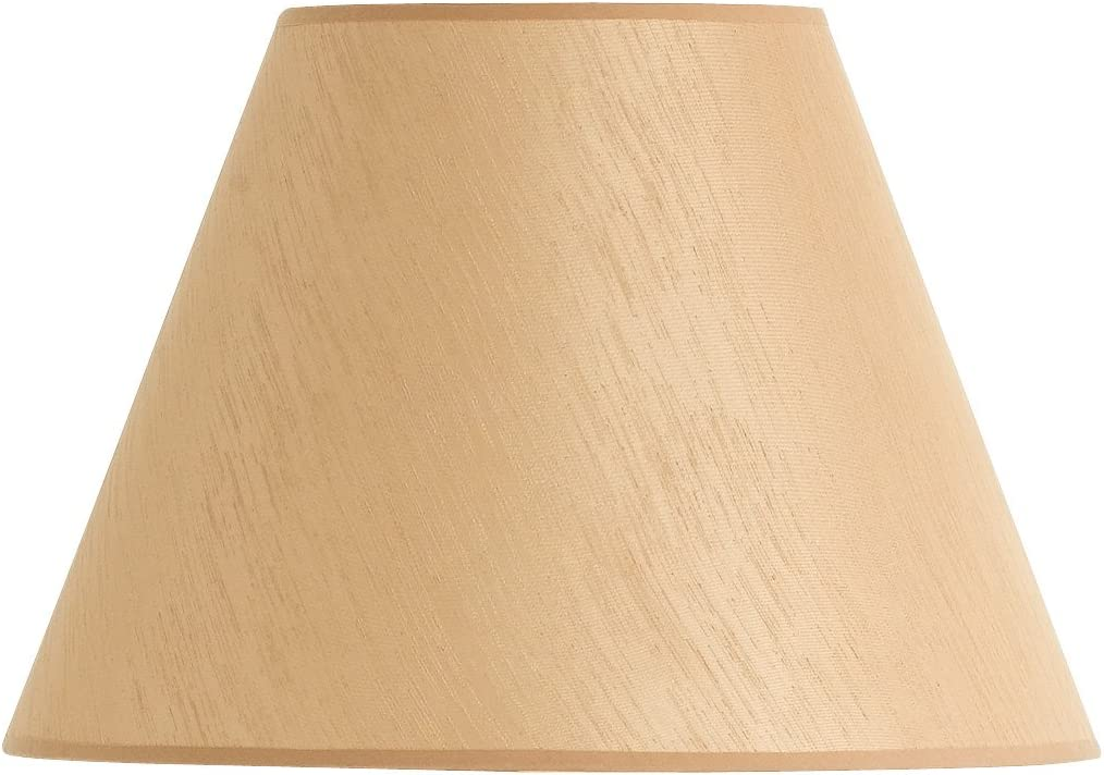 Cal Lighting SH-1270 12-Inch Side Hardback Fabric Shade, Round