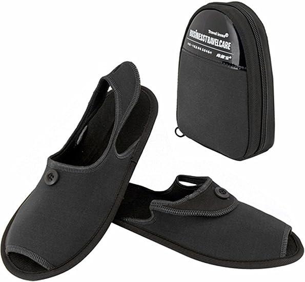 Iconos De Viaje portátil antideslizante zapatillas de viaje plegable Zapatos Sandalias plegable con bolsa de almacenamiento: Amazon.es: Belleza