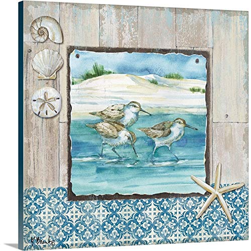 Sandpiper Wall Decor - Paul Brent Premium Thick-Wrap Canvas Wall Art Print Entitled Sydney Sandpipers I 12