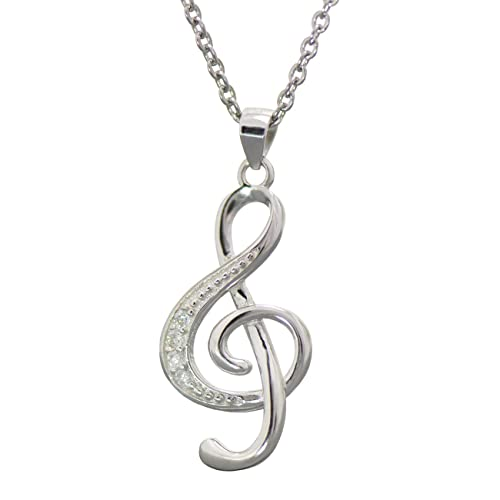 dcd5f8d845148e Image Unavailable. Image not available for. Color: Paialco 925 Sterling  Silver Music Note G Treble Clef Charm Pendant Necklace