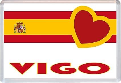 Vigo - amor España/bandera española pueblos y ciudades - Jumbo heladera - nuevo regalo/marca imán/suvenir presentarlas: Amazon.es: Oficina y papelería