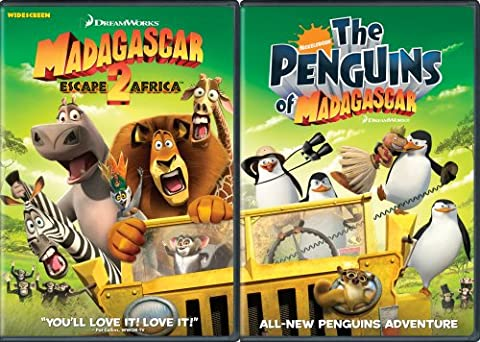 Move It, Move It Two-Disc Pack (Madagascar: Escape 2 Africa / The Penguins of (Madagascar 3 On Dvd)