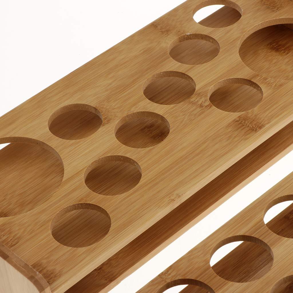 Madera 13 Holes Resistente A Los Golpes Y Al Desgaste Fenteer Bandeja De Servicio De Vaso De Whisky para Porta Vasos De Whisky Rack Barware