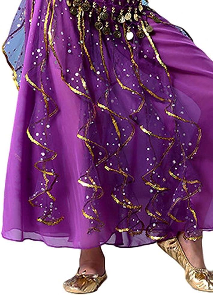 Grouptap Vestito da Ballerino per Bambini Blu//Rosa//Viola Vestito da Ballerina per Bambini Vestito da Balletto Arabo per Ragazze con Nastro di Pizzo Indiano Bollywood per Bambini