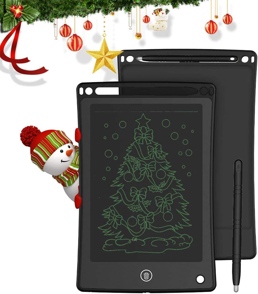 Doosl Tableta de Escritura LCD, Tableta para Escribir y Hacer Bocetos de 8,5 Pulgadas - Tableta de Escritura Mini Pad Tableta de Dibujo para Uso en la Escuela, el Hogar, la Oficina y los Viajes-Negro