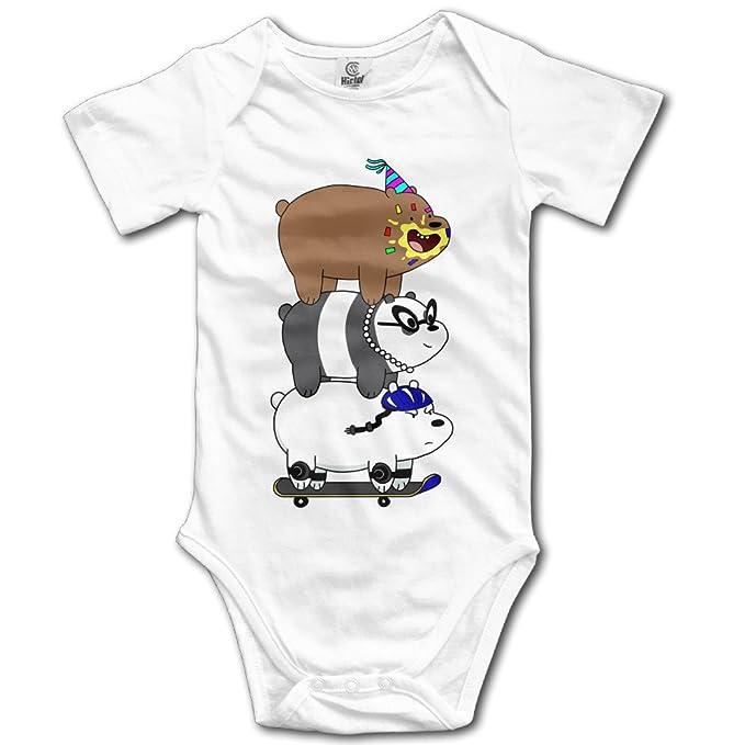Unisex We desnudas osos Cute Cartoon bebé Pelele bebé mono corto slev: Amazon.es: Ropa y accesorios