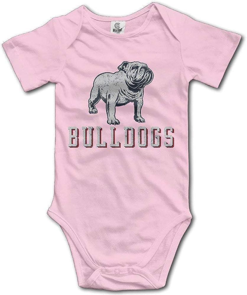 Baby 100% Cotton Short Sleeve Onesies Toddler Bodysuit Cruel Bulldog Babysuits Pink Size 24 Months