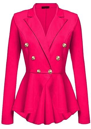 Generic - Chaqueta de traje - para mujer rojo Rosa Roja S ...