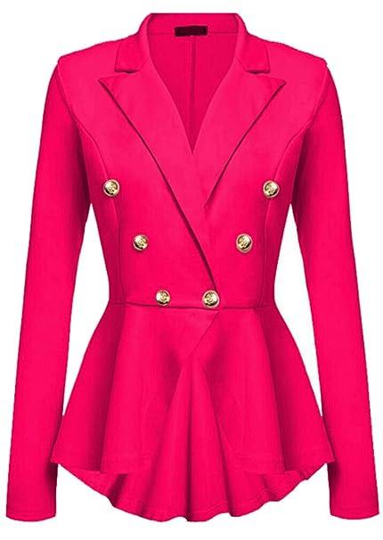 Desconocido Generic - Chaqueta de Traje - para Mujer Rojo Rosa ...