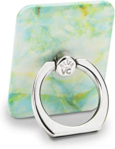 Velvet Caviar Cell Phone Ring Holder - Finger Ring & Stand - Improves Phone Grip Compatible with iPhone, Galaxy and Most Cases (Except Silicone/Leather) - Green Marble
