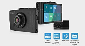 BlackVue New DR490L-2CH 16GB With GPS, Car Black Box/Car DVR Recorder, Built-in LCD Screen, Full HD, G Sensor, 16GB SD Card Included, upto 128GB support