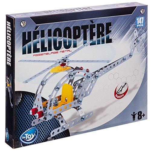 CONSTRUCTION SET HELICOPTER METAL PIECES + 147 BRICK TOOLS f4t7asVblj