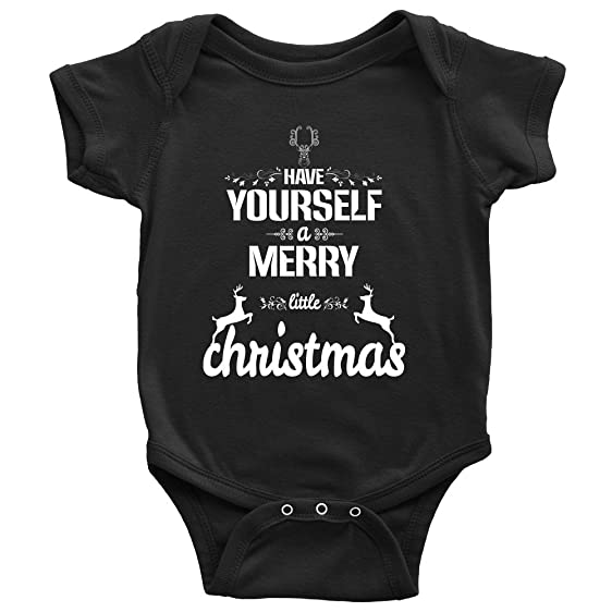 Amazon unisex cotton newborn infant funny have yourself a merry unisex cotton newborn infant funny have yourself a merry little christmas reindeer xmas baby boy solutioingenieria Choice Image