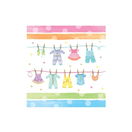 Amazon Com Creative Converting Baby Shower Baby Clothes Border