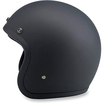 Biltwell Bonanza Flat Helmet - X-Large/Black: Automotive