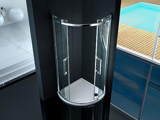Box ducha semicircular 2 puertas correderas de cristal ...