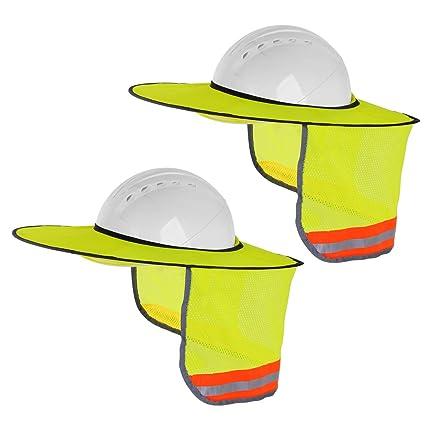 Amazon.com: 2 parasoles para sombreros duros, con cuello de ...
