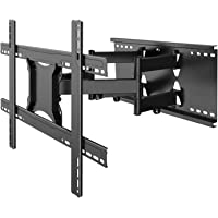 PERLESMITH Wood Studs Articulating Swivel TV Mount Fits for 37-80 Inch LED, LCD, OLED, Flat Screen, Plasma TVs