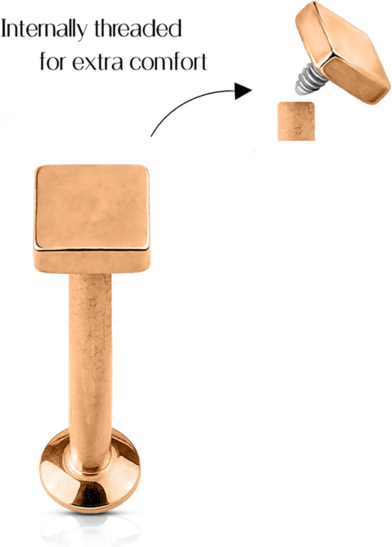 Surgical Steel Minimalist Cartilage Jewelry Forbidden Body Jewelry 16g 6mm Tiny Statement Stud Earring 1//4 Inch