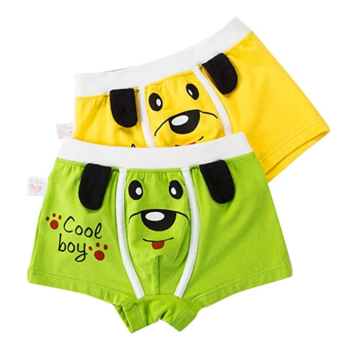 Happy Cherry Pack de 2 Cartoon Calzoncillos Bóxer Ropa Interior Infantil para Niños 7 - 8