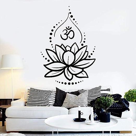 Crjzty Flor de Loto Yoga Hinduismo Hindú Om Símbolo Vinilo ...