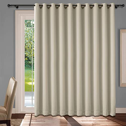 cololeaf Extra Wide Curtains Grommet Top Privacy Room Divider Curtain Thermal Insulated Blackout Curtains Room Darkening Panel