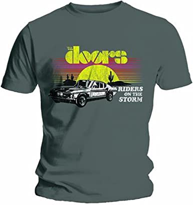 The Doors Riders on The Storm Jim Morrison Rock Oficial Camiseta para Hombre