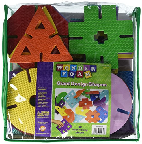 Chenille Kraft WonderFoam Giant Design Shapes, 40 Pieces (AC4464)