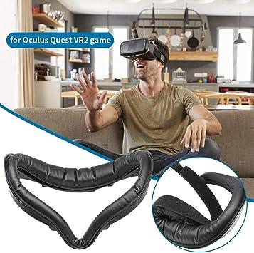 Support dinterface Faciale en Cuir PU+2 *Couverture Pad+Coussin de Nez+Cache dobjectif VR pour Oculus Quest 2 Anti-Transpiration Toucher Confortable Accessoires pour Oculus Quest 2