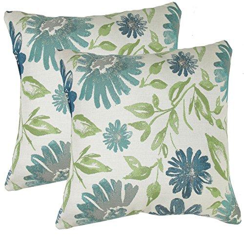 urbandesignfurnishings.com Made in USA Sunbrella Violetta Baltic Outdoor 20X20 Throw Accent Pillow (2-Pack)
