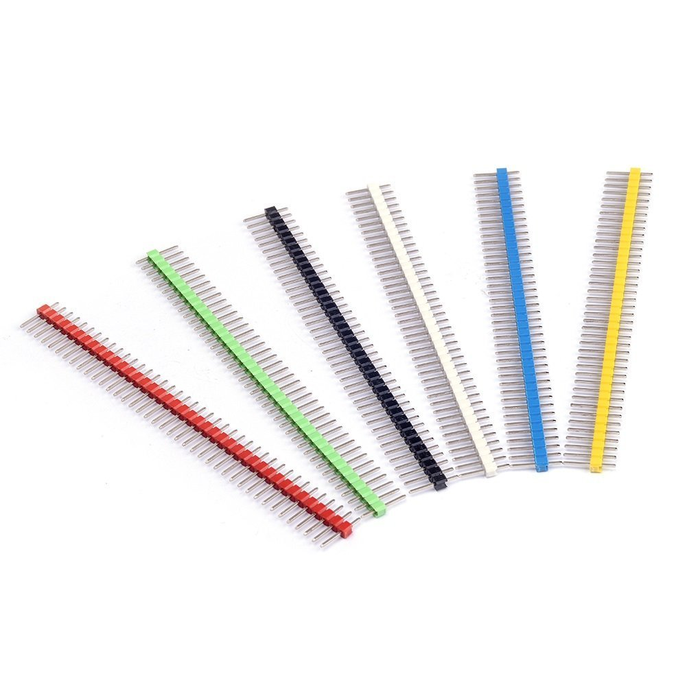 HiLetgo 36PCS Pin Header Packed With 18PCS 2.54mm Single Row Male Header And 18PCS Female Header Connector Kit PCB Pin Strip for Arduino