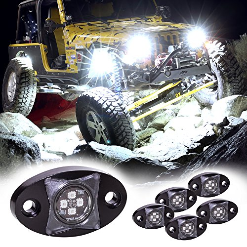 (LAMPHUS 6pc Stardust SDRL14 4x4 4WD Jeep Truck Offroad LED Rock Light Kit - Cold White )