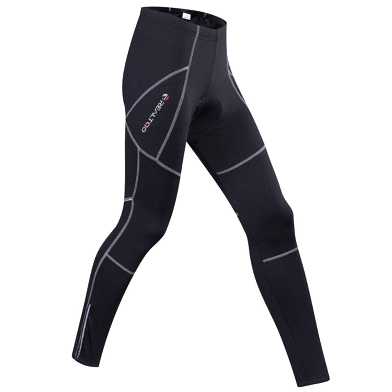 BWBIKE Pantalone da Ciclismo da Uomo Leggings da Bici Leggings Imbottiti Termici Pantaloni da Ciclista con Interno in Pile Invernale